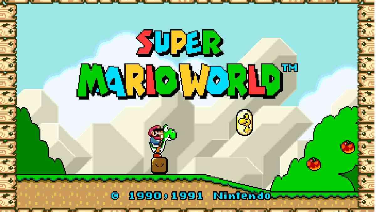 super mario world, super mario world widescreen, super mario world hack per giocarlo widescreen
