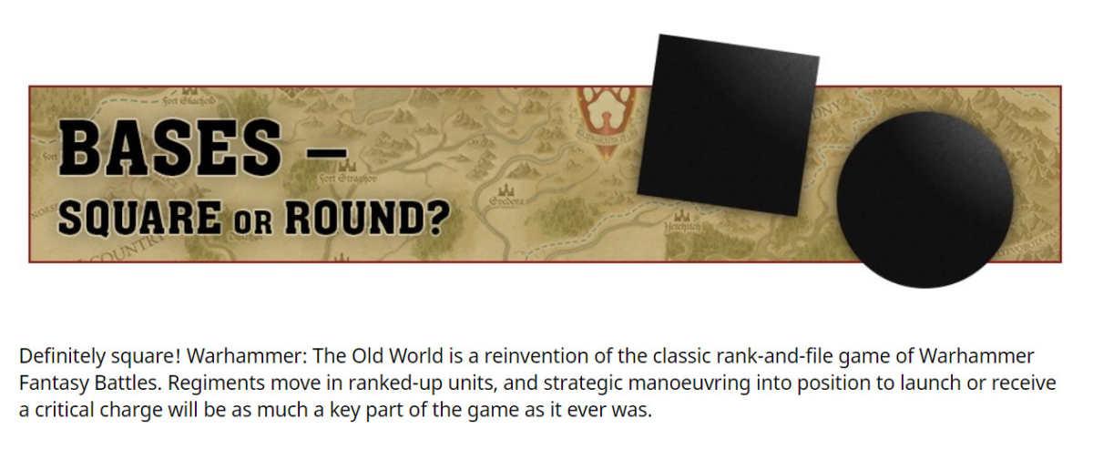 Basette da usare in Warhammer: The Old World
