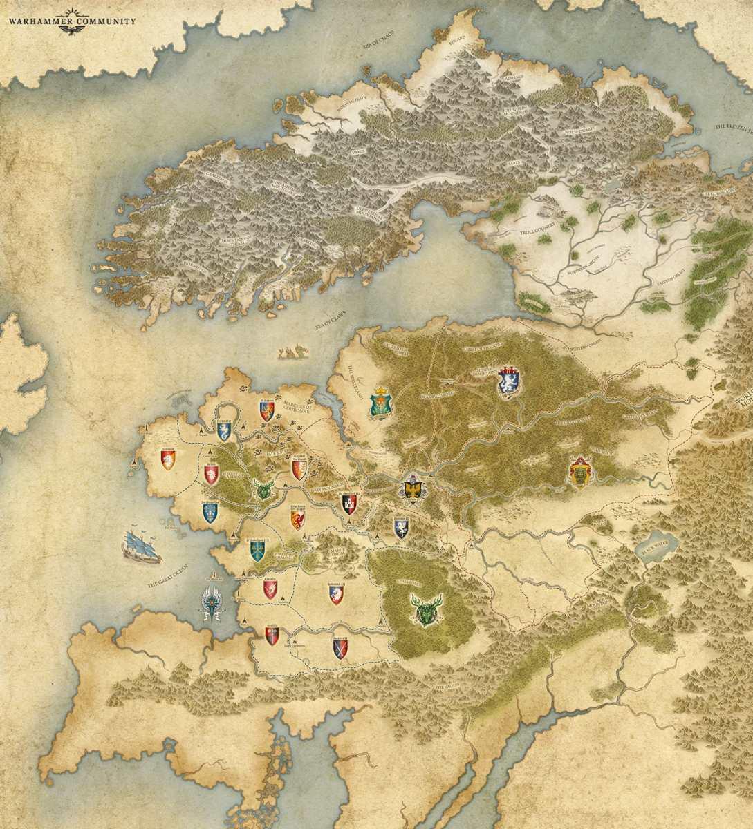 Mappa di Warhammer: The Old World
