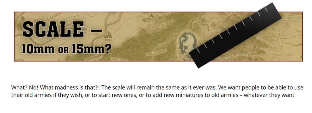 Scala dei modelli in Warhammer: The Old World