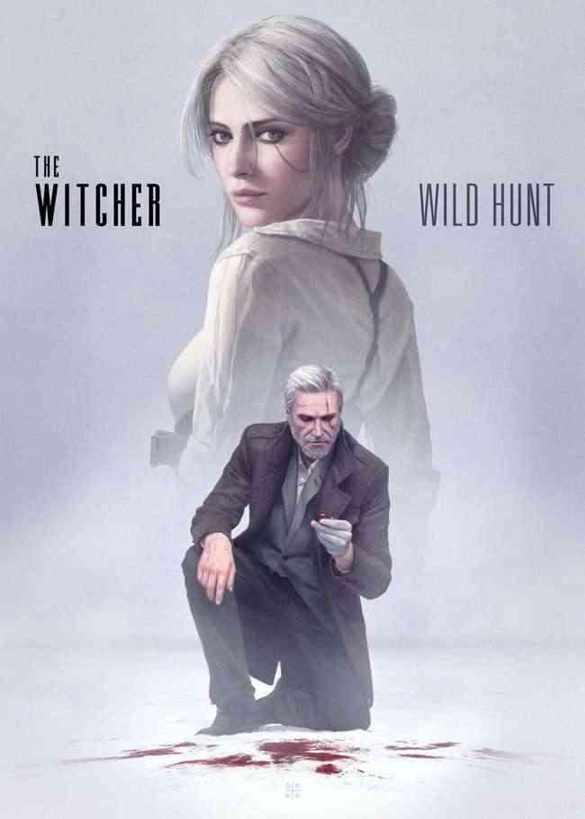 the witcher 3-wild hunt, the witcher 3 wild hunt fan-art, the witcher 3 wild hunt ciri e geralt noir, the witcher 3 Astòr Alexander fan art