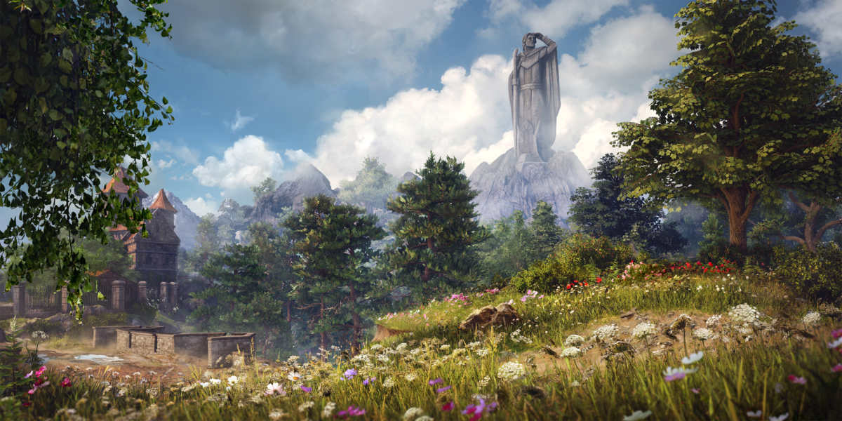 Panorama di Nostria in King's Bounty 2