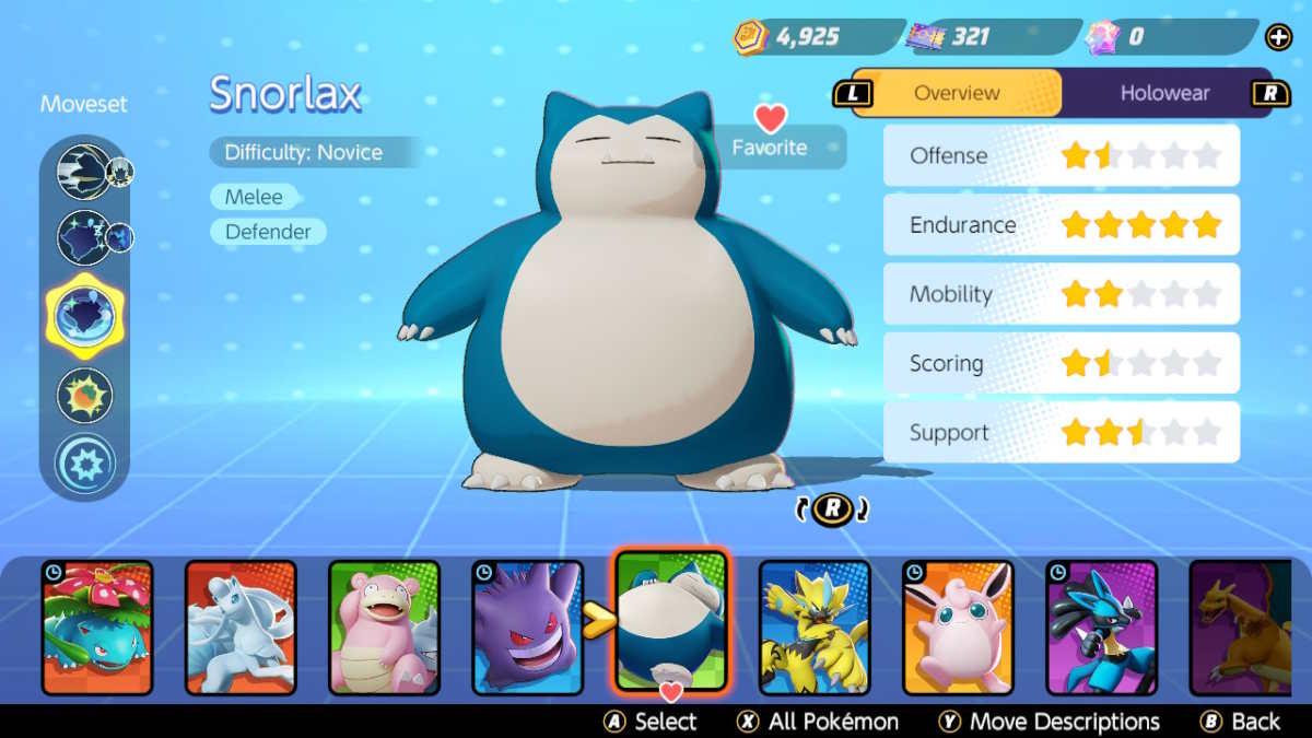 Pokémon Unite Snorlax