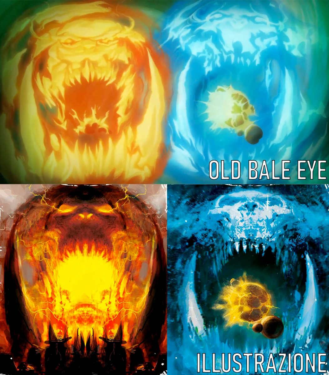 Gork e Mork in Old Bale eye e in un'illustrazione