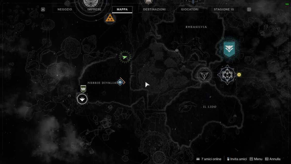Mappa della seconda Ancora Ascendente nelle Nebbie Divaliane