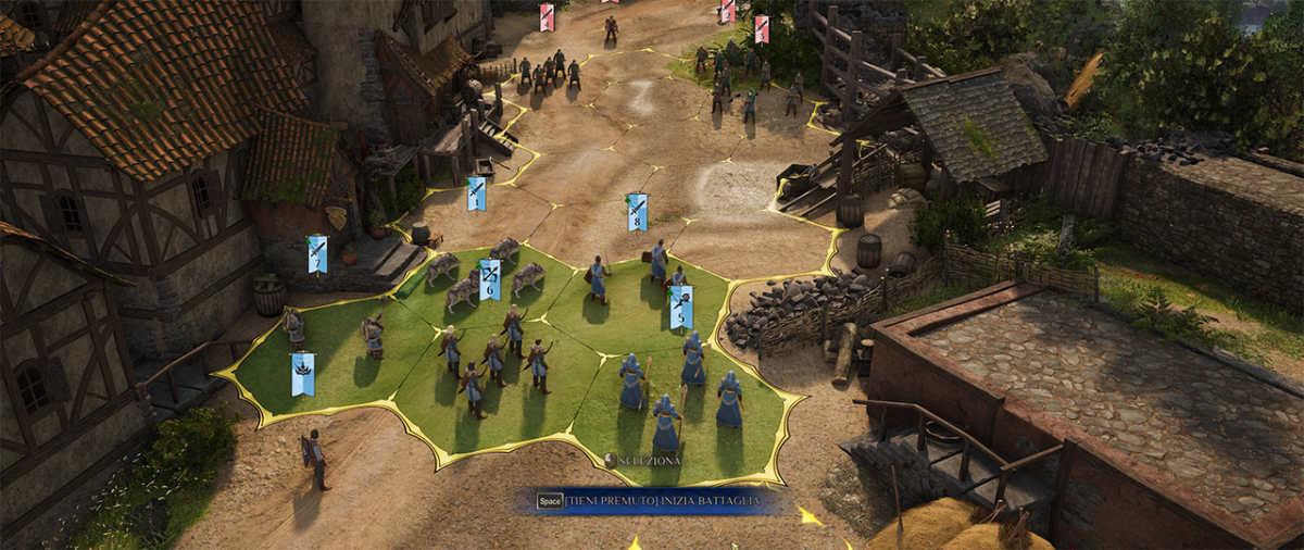 King's Bounty 2, combattimento su terreno semplice
