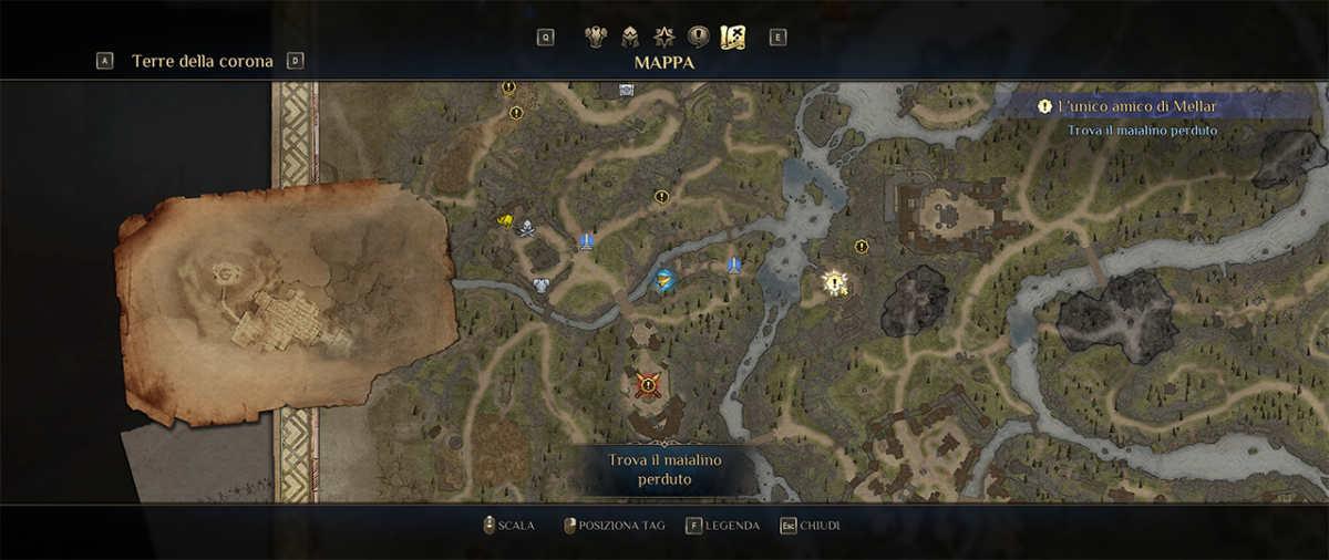 Scorcio di mappa di King's Bounty 2
