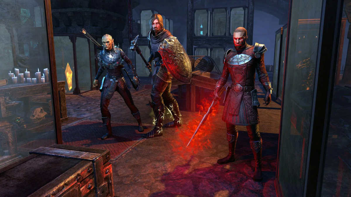 I Knights of the Silver Rose nel dungeon Red Petal Bastion