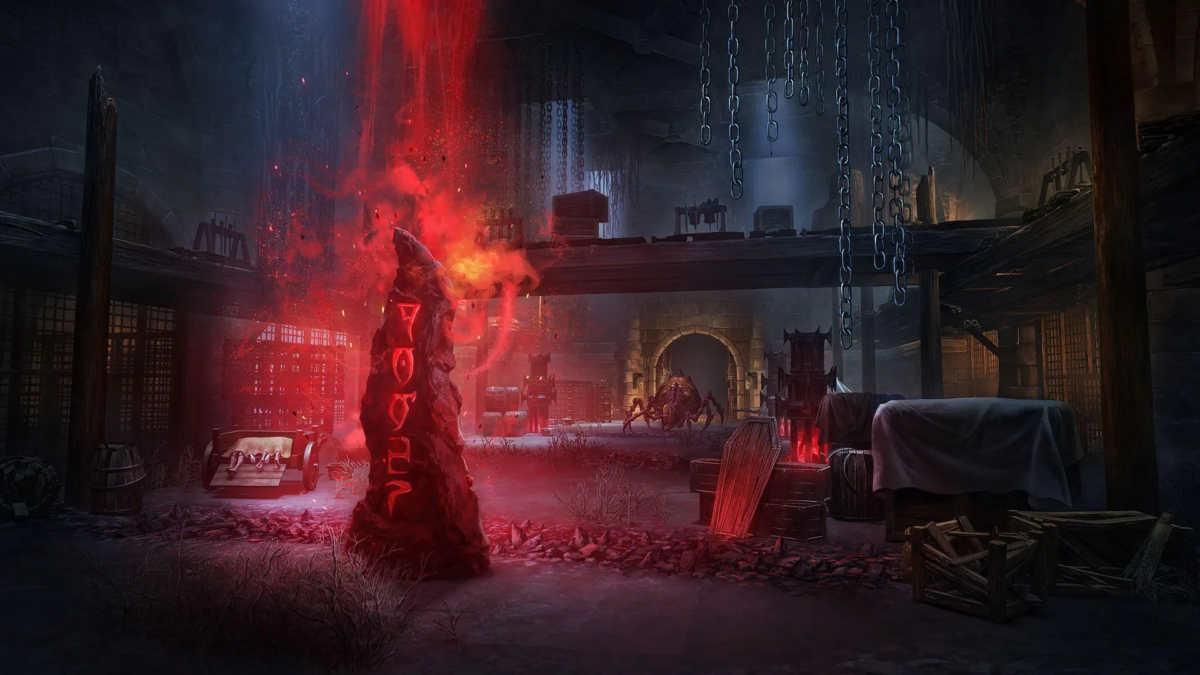 Il dungeon Dread Cellar del DLC Waking Flame di ESO