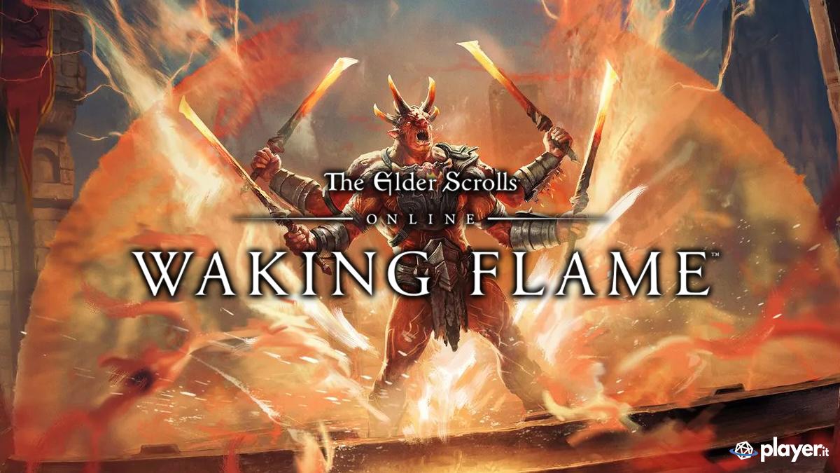 Il boss fatto di magma di uno dei dungeon del DLC ESO: Waking Flame