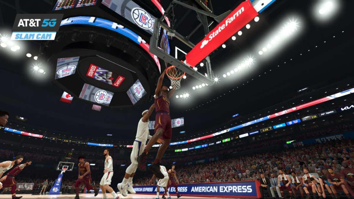 NBA 2K22, schiacciata