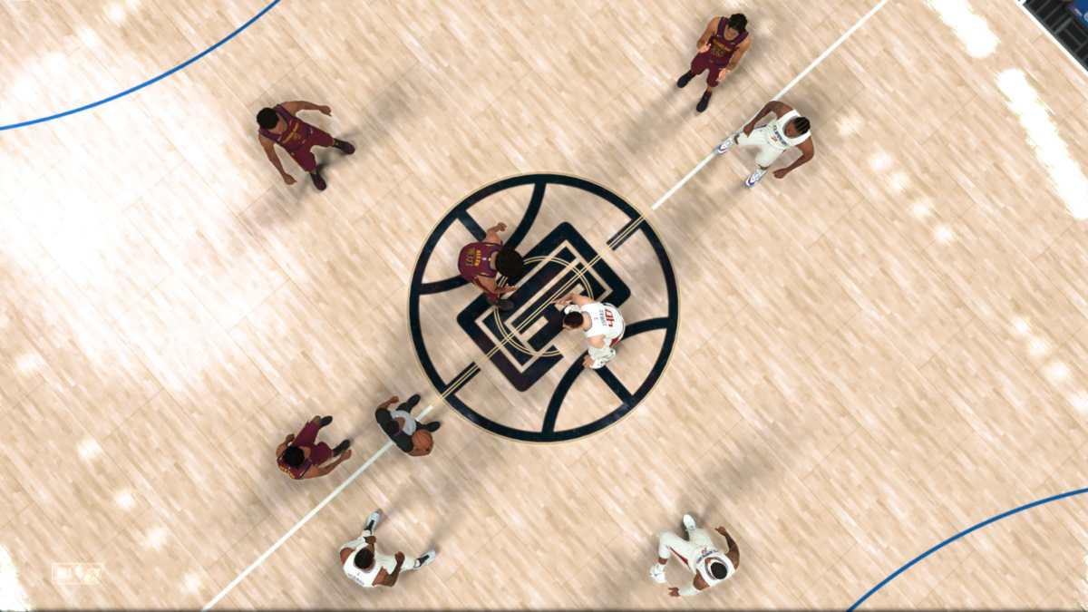 NBA 2K22, contesa iniziale di una partita