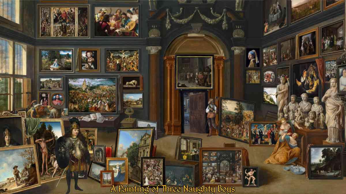 giochi tratti dal quadri, giochi tratti da opere d'arte, the procession to calvary